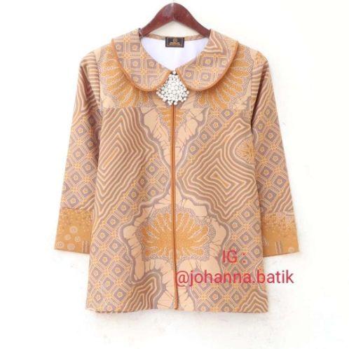 model baju tunik batik