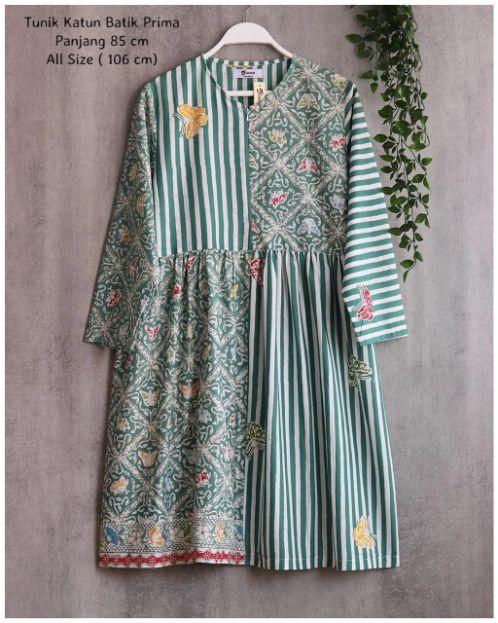model baju tunik batik terbaru
